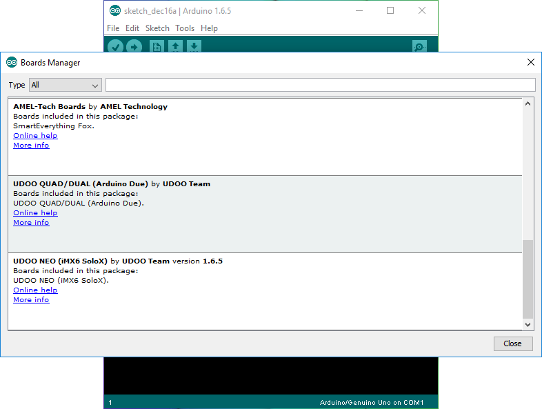 Programming Arduino M4 from External PC - UDOO Neo Docs