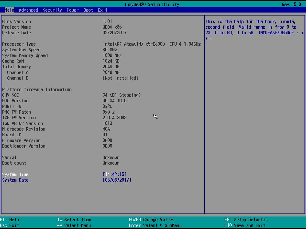 UEFI Firmware - UDOO X86 Docs