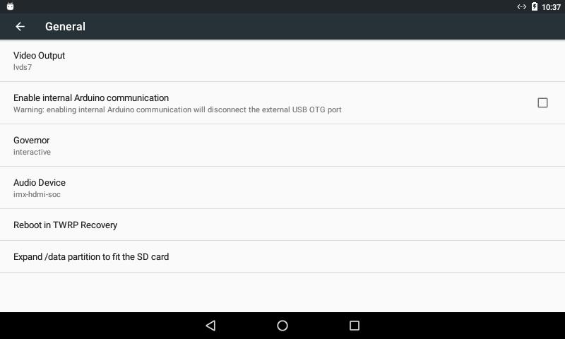 UDOO Android Settings - UDOO Quad/Dual Docs