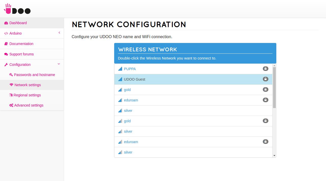 Web Control Panel - UDOO Quad/Dual Docs